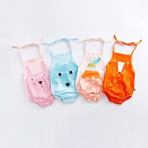 Barboteuse d'été sans manches | Nouveau-né, bébé garçon fille, dos nu, jolis animaux, combinaison Tutu, tenues, vêtements pour enfants
