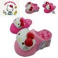 Зимние девушки мультфильм китти розовый хлопок сандалии детский дом теплый крытый тапочки дети обувь флип-флоп дом обуви 16O101