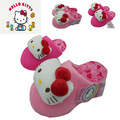 Winter girls cartoon kitty pink cotton sandals children's home warm indoor slippers kids footwear flip flop home shoes 16O101
