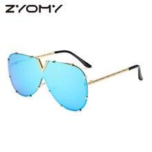 1991e988df Gafas De conducción De gafas De Sol siameses marco De Metal Oculos De Sol  Clamshell De