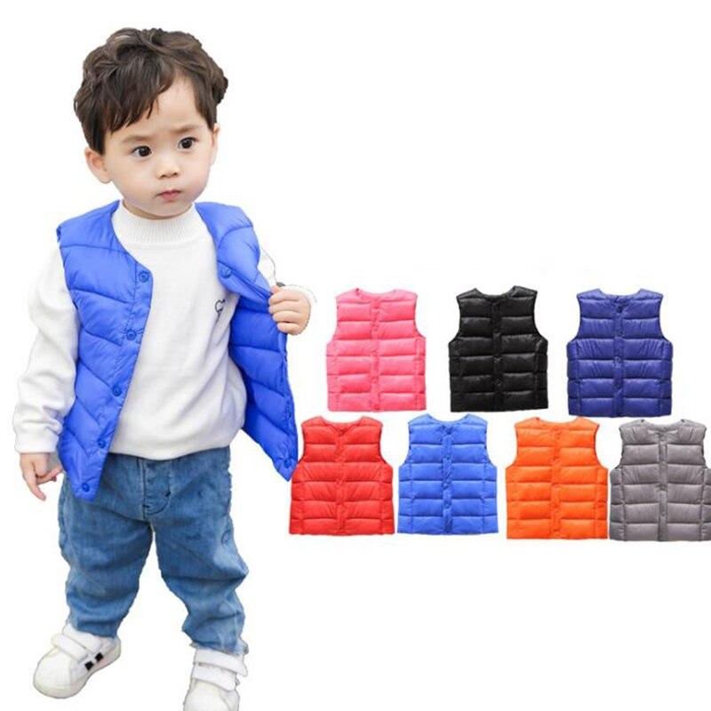 ad18abadc HH Crianças colete jaqueta sem mangas coletes de roupas para meninos de  algodão Outono Inverno das Crianças da menina da criança colete outwear  Jaqueta ...