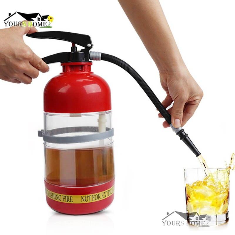 1.7 L Thirst Extinguisher Red Fire Novelty Drink Dispenser Stainless Steel Cocktail Boston Bar Shaker Barware