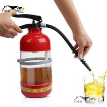 1.7 L Thirst Extinguisher Red Fire Novelty Drink Dispenser Cocktail Shaker Bar Tool