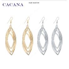 CACANA  Dangle Long Earrings For Women Oval Sequin Bijouterie Hot Sale No.A584 A585