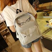 ecoparty best sales Women Backpacks New Spring Summer School Backpack Casual Style Backpack Girls Zipper Canvas Bags