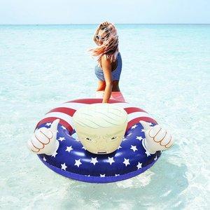 Image 4 - Trump Pool Float Inflatable Swimming Ring Donald Trump  Swimming Pool Floats
