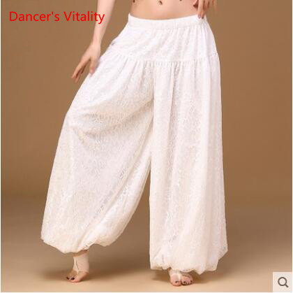 Image 2 - sexy loose unisex bloomers dance pant tribal dance harem pants two layers of white lace for men and women, free shippingbelly dance skirtbellydance skirtsexy belly dance -