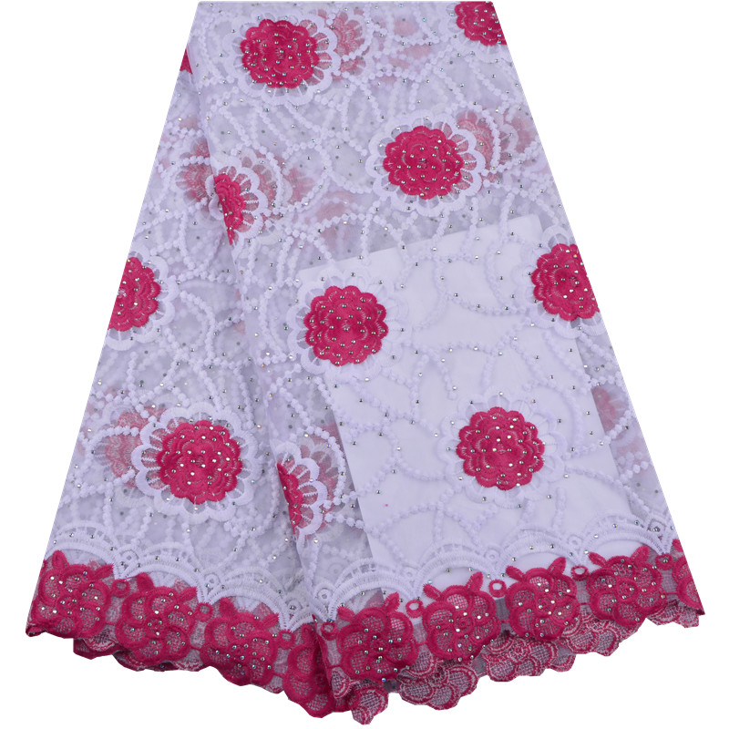 Nigerian French Lace Fabrics High Quality French Tulle Lace Fabric For African Embroidery Net Lace 5
