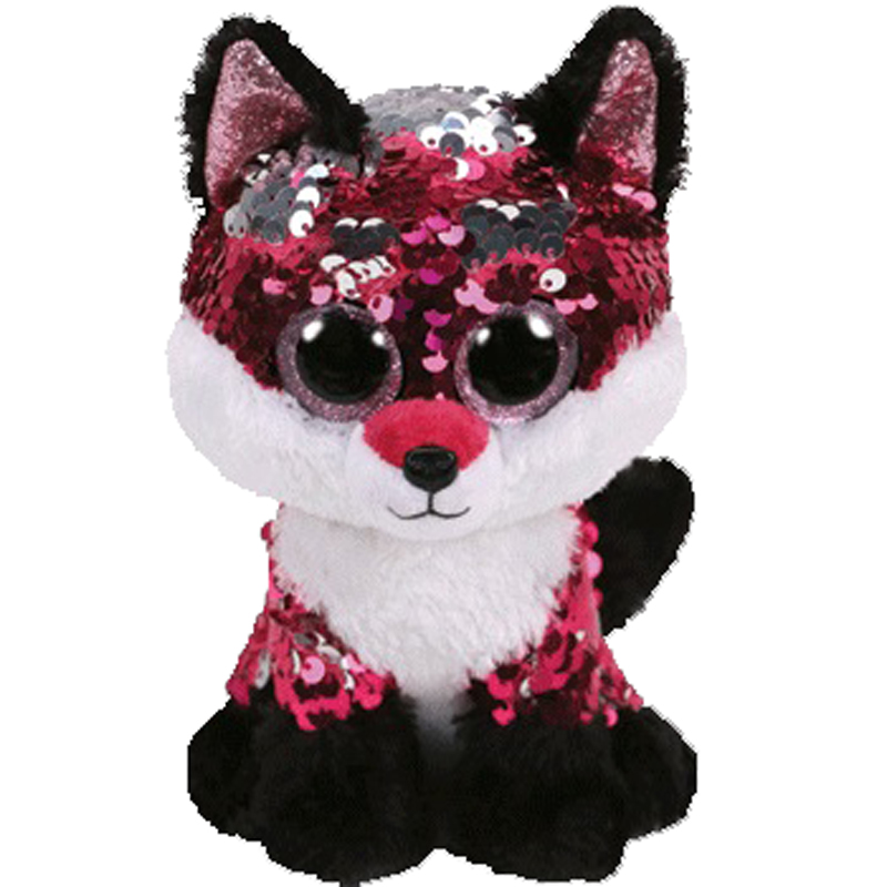 Ty Beanie Boos Jewel the Fox Sequins Plush Animal Big-eyed Stuffed Collection Doll Toy 25cmTy Beanie Boos Jewel the Fox Sequins Plush Animal Big-eyed Stuffed Collection Doll Toy 25cm