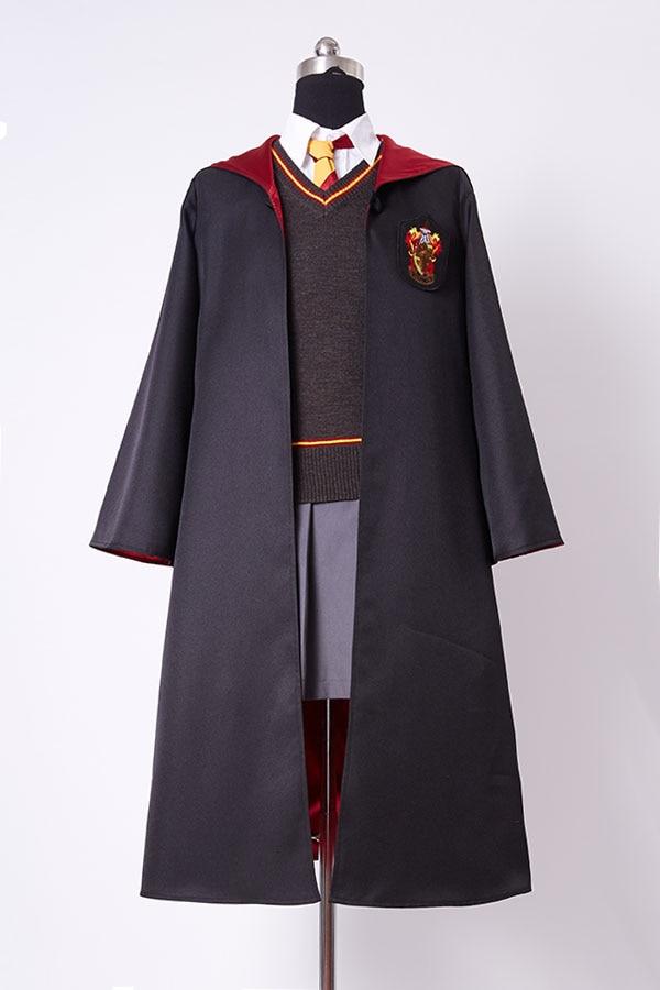 Gryffindor Uniform Hermione Granger Cosplay Costume Girls for Child Kids Magic Wand Full Set Costume Custom Made