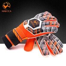Детские профессиональные вратарские перчатки защита пальцев Толстый Латекс футбольные вратарские перчатки