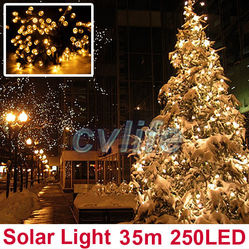 250 Solar Led String Lights : New model String Solar Lights 250 LEDs 35 meters Waterproof Christmas Valentine s Day Fairy ...