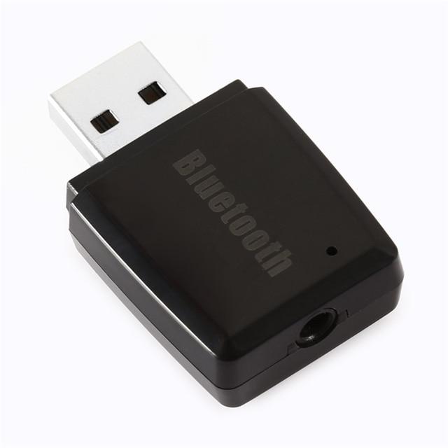 Mini Carro Transmissores FM Sem Fio Bluetooth Receptor Adaptador Douge USB para 3.5mm Aux Receptor de Fone de Ouvido de Áudio Portátil
