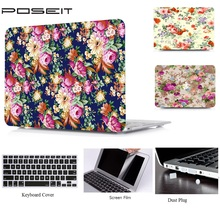 купить POSEIT Laptop Case For Apple New Macbook Pro 13 15 2016 Model A1706/8 A1707 With Touch Bar Print Hard Shell Full Body Cover Case по цене 1108.11 рублей