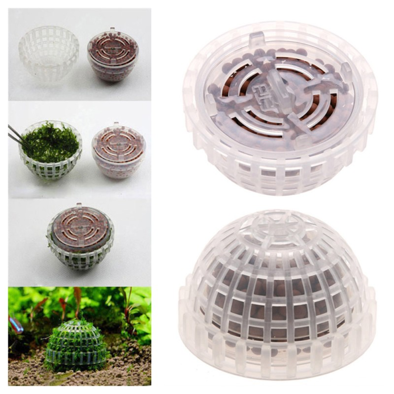 New Aquarium Fish Tank Decoration Media Moss Ball Live Plant Filter Filtration Crystal Red Shrimp Live Plant Cultivation House