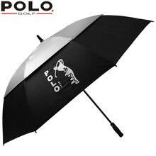 High Quality Brand POLO Golf Large Long-handled Golf Umbrella Double Men Windproof Pongee Sun Protection Paragua Women Umbrella