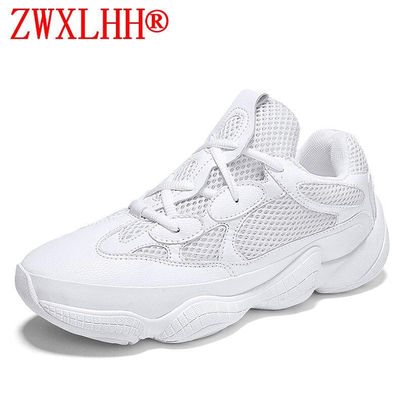 2018 new spring summer men mesh shoes with flat breathable men platform Running shoes Men's shoes Hard Court running shoe 39--44