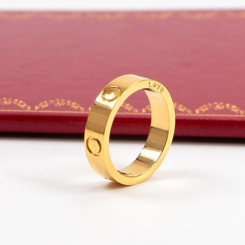 316L Stainless Steel carter Love ring For Women Men CZ wedding couple ring brand Logo Pulseira feminina jewelry never fade