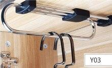 High quality Wardrobe hang hanging rod / metal telescopic clothes wardrobe sliding racks rack