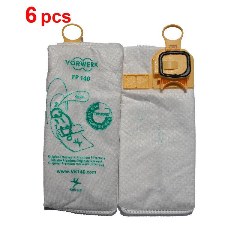 6pcs/lot Vacuum Cleaner dust HEPA bag Non-woven bags for vorwerk VK140 FP140 Kobold140 VK150 FP150 Kobold150 2 pieces lot vacuum cleaner non woven s bag cloth dust bag replacement for philips cityline universe impact series
