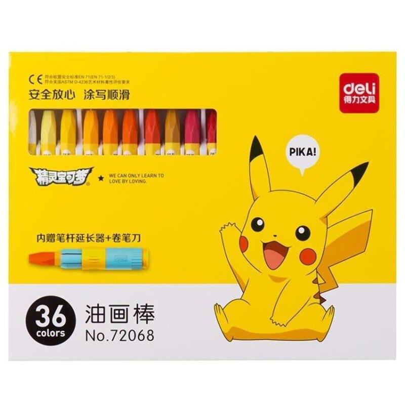 702 30 De Réduction182436 Couleurs Crayon Mignon Pokemon Pikachu Pastel Art Stylo Dessin Peinture Graffiti Stylo Enfants école Bureau Art