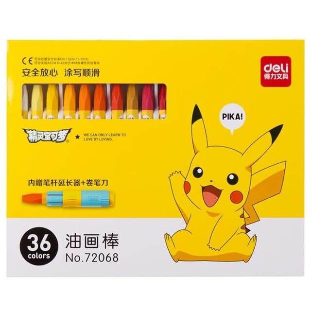7 02 30 De Réduction 18 24 36 Couleurs Crayon Mignon Pokemon Pikachu Pastel Art Stylo Dessin Peinture Graffiti Stylo Enfants école Bureau Art