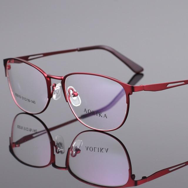 Metal marco óptico gafas de marco redondo mujeres al por mayor nueva ...