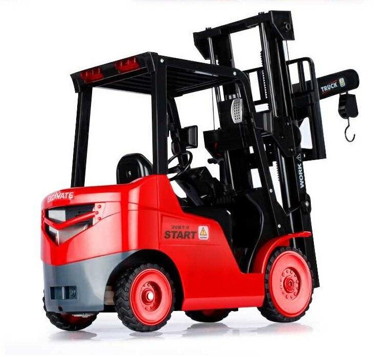 Duży rozmiar 1:8 11CH RC wózek widłowy dźwig samochodowy RTR inżynier pojazd zabawki dla dzieci pilot zdalnego sterowania samochód zabawka w Samochody RC od Zabawki i hobby na  Grupa 3