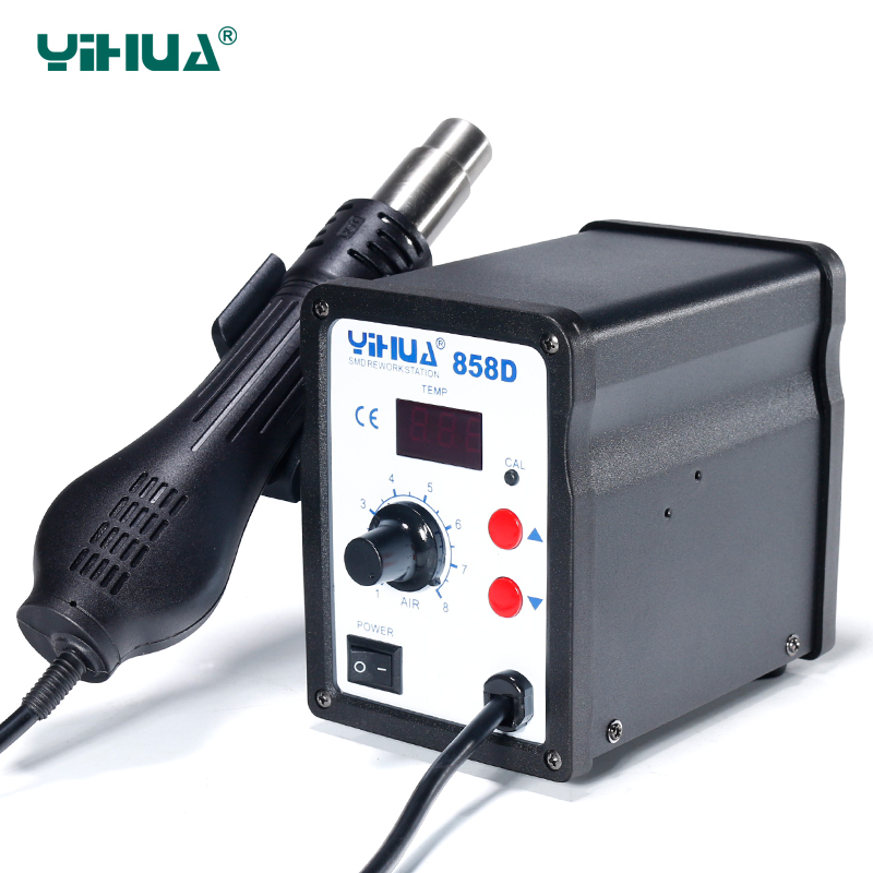 650W 110V Or 220V YIHUA 858D Hot Air Desoldering Station With 45W Soldering Iron Air Gun Soldering Station 650w 110v or 220v yihua 858d hot air desoldering station with 45w soldering iron air gun soldering station