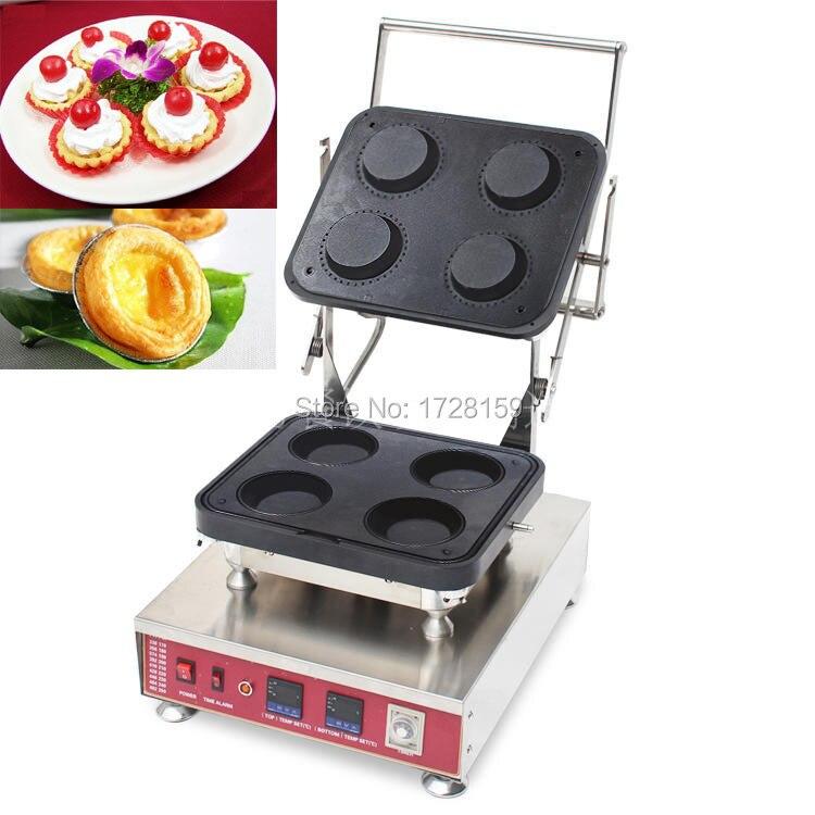 CE approved  high quality 4pcs big size tartlet maker machine,Egg tart shell maker machine for commercial business new hot sale tartlet bakon machine price bakon tartlet machine for sale