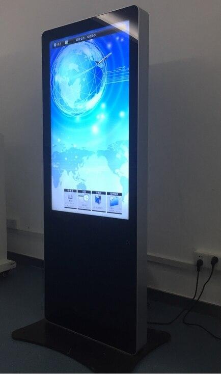 Kiosque d'information numérique 47 pouces au sol kiosque de signalisation numérique interactif lcd tft hd moniteurs