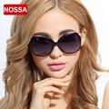 NOSSA Marca de Alta Qualidade óculos de Sol das Mulheres Grande Quadro Feminino Óculos Polarizados Do Vintage Fino Templo Eyewear