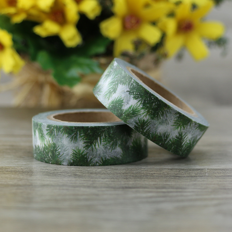 2017 NEW Japanese Cute kawaii Sping Leaf Masking Washi Tape Decorative Adhesive Tape Diy Scrapbooking Tools School Office Supply cute creative snowflakes lemon leaves japanese masking washi tape decorative adhesive tape diy scrapbooking school office supply