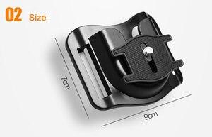"Image 3 - 1/4 ""Quick Release แผ่นกล้อง Holster เข็มขัดเข็มขัดหัวเข็มขัดตะขอแขวนสำหรับ Canon Nikon Fuji Sony A7RII 6500 GH5 DSLR"