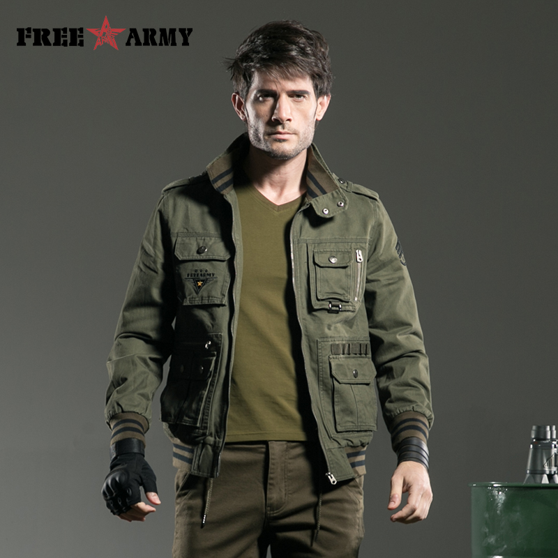 Aliexpress.com : Buy FREEARMY Brand Quality Jacket Men Military ...