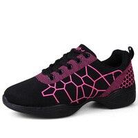 New 2017 Dance Shoes For Girls Sports Soft Outsole Breath Women Aerobics Modern Jazz Dance Shoes