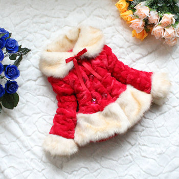 Free shipping 2016 New Autumn Winter Girl coat Floral Children`s jacket Kids coat For Girls  Toddler Girl Clothes
