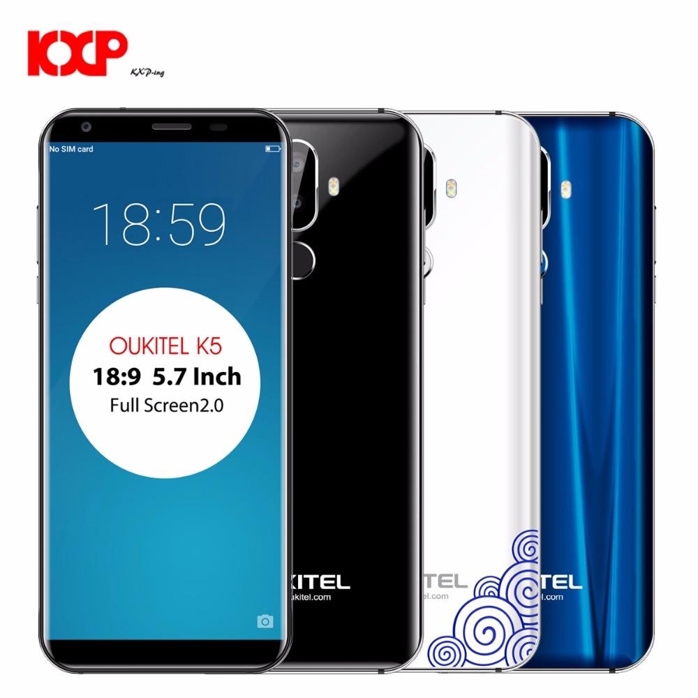 OUKITEL K5 фаблет 4G 5,7 дюймов Android 7,0 mtk6737t четыре ядра 1,5 ГГц 2 ГБ Оперативная память 16 ГБ Встроенная память 4000 мАч Батарея