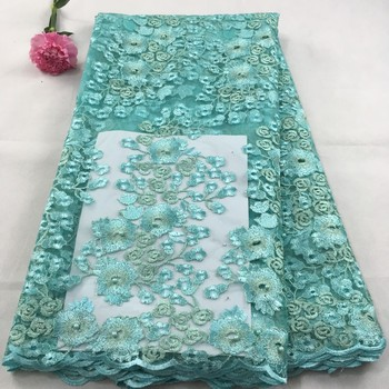African Tulle Lace Fabric 2019 African French Lace Fabric High Quality With Stones Nigerian Embroidery Tulle French Lace LHx10A