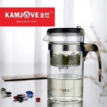 Kamjove elegant tasse hitzebeständigem glas teekanne 200 ml 500 ml 1000 ml kungfu teasets blume becher tasse flasche mit filter