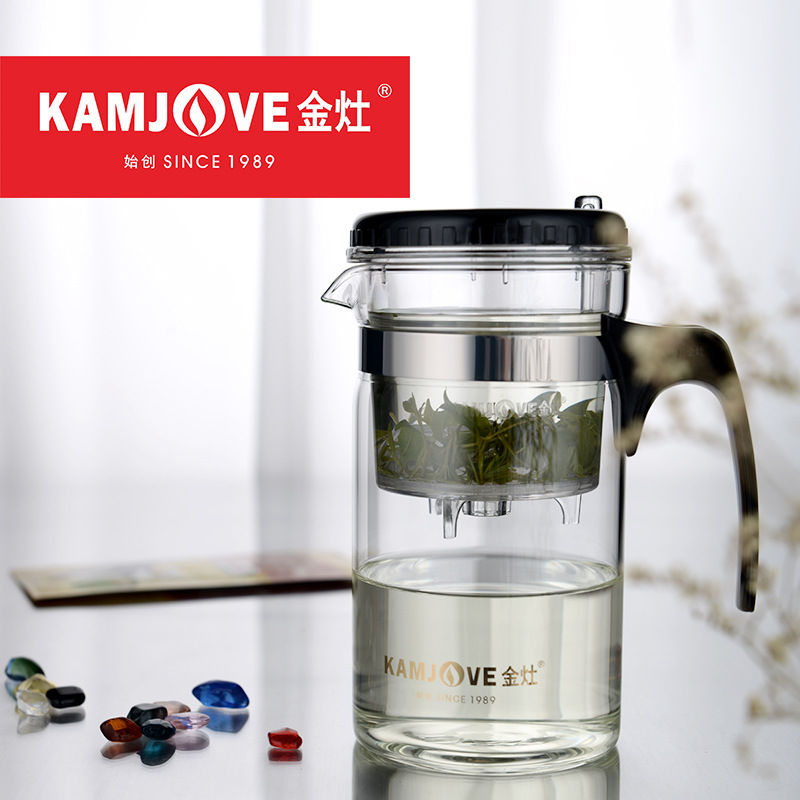 KAMJOVE Elegant Cup Heat-resistant <font><b>Glass</b></font> Teapot 200ml 500ml 1000ml Kungfu Teasets Flower Mug Cup Bottle with Filter