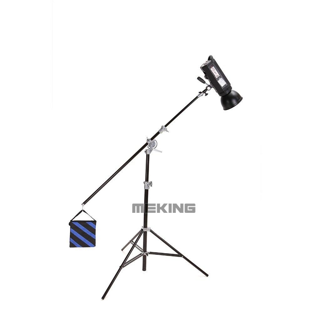 Selens סטודיו צילום SGL-400ZA אוויר מרופד & אור בום לעמוד תפקיד כפול w/ חול התיק 400cm/13ft