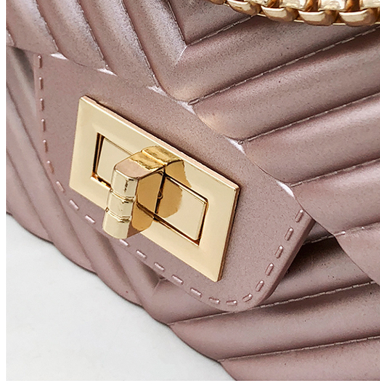Image 4 - new Famous Brand Leather Messenger Bags Luxury Shoulder Bag Quilted Designer Handbags Women Bag Vintage Female Chain Jelly pack-in Top-Handle Bags from Luggage & Bags