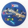 Alta Calidad Platón Mapa De Cuba Tapices Paredes Fondo Adornos de Resina Artesanías de Decoración De Escritorio Decoración Del Hogar Regalo