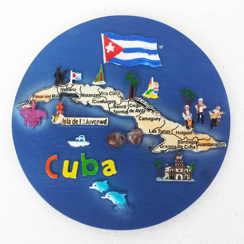High Quality Plato Mapa De Cuba Wall Hangings Background Walls Ornaments Resin Crafts Desktop Decor Home Decoration Gift