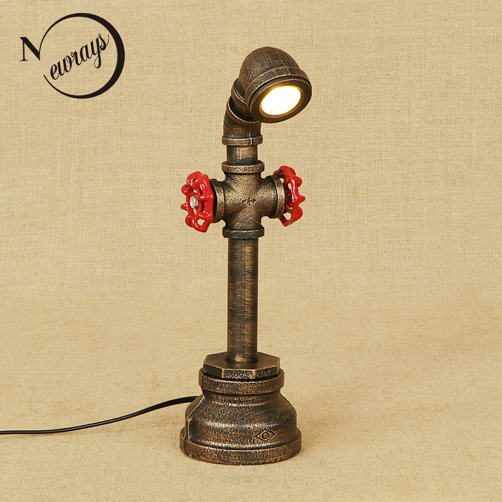 Retro iron painted metal art deco desk light with switch table lamp include LED 220V bulb for bedside office study bed room cafeRetro iron painted metal art deco desk light with switch table lamp include LED 220V bulb for bedside office study bed room cafe