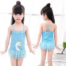 2018 Princess Girls One Piece Swimming Suits Cartoon Cute Girls Swimsuits Lovely Bathing Suits Girls Swimwear Swimsuits G42-K492
