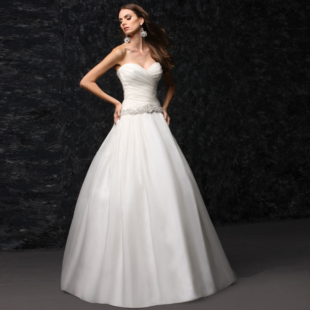 Mature Brides Wedding Gowns: Strapless Sweetheart Organza Wedding Dress Mature Bridal