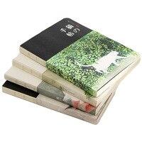 Новый пустой винтажный блокнот дневник для рисования креативный милый блокнот с кошкой бумажный эскиз книга для офиса школьные принадлежн...