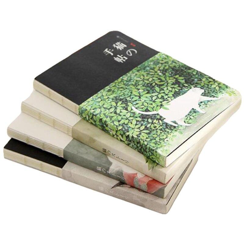 New Blank Vintage Sketchbook Diary Drawing Painting Creative Cute Cat Notebook Paper Sketch Book Office School Supplies Gift